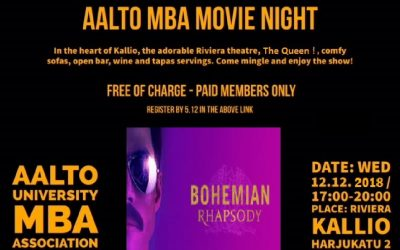 MBA Movie Night on December 12th at 17:00
